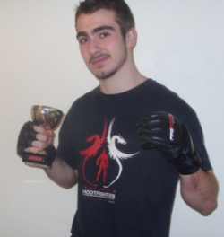 Jacob Constantinou amateur MMA win Leicester Shootfighters