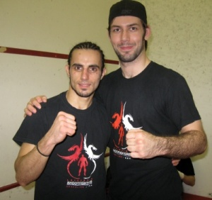 Mahmood Besharate after winning his MMA debut