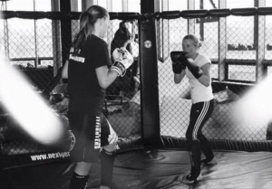 women only boxing kickboxing course leicester
