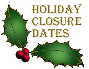 shootfighters xmas holiday closures